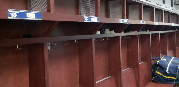 Preds locker room empty